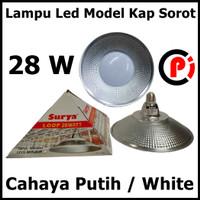 SURYA LOOP Lampu Led Model Kap Sorot Cahaya Putih White 28w 28 Watt