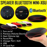 Speaker Bluetooth Mini X6U Wireless Music SPIKER MEGA BASS MURAH