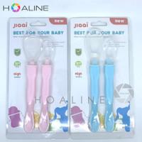 Baby silicone spoon set sendok makan bayi 2 sisi isi 2 BPA FREE HL8700
