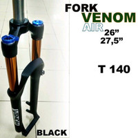 sepeda suspensi fork venom air udara 27.5 travel140 t140 mtb