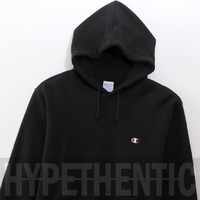 Champion Sweatshirt Basic Black Hoodie Original / Jacket / Jaket Hitam - Merah, M