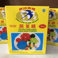 Agar Agar Swallow Walet Globe Brand 1 BOX Isi 12 Sachet