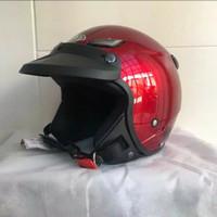 Helm JPN kawai momo maroon gloss pet