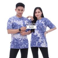Kaos Pria Wanita Tie Dye T-Shirt - Biru