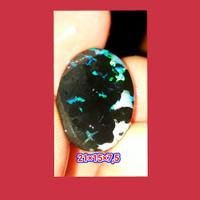 batu cincin tanpa ring kalimaya black opal sempur boulder