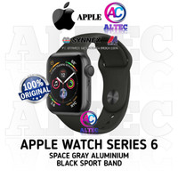 Apple Watch Series 6 GPS Space Gray Aluminium With Black Sport Band