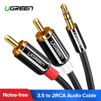 UGREEN Kabel Audio HiFi 3.5mm to RCA 1.5 Meter - AV116 - Black