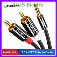 UGREEN Kabel Audio HiFi 3 5mm to RCA 1 5 Meter AV116 Black