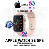 Apple Watch SE GPS - Gold Aluminum Case with PinkSand Sport Band RESMI