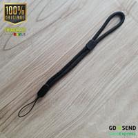 Braided Nylon Lanyard Wrist Strap Tali Gantungan Handphone Flashdisk - Black