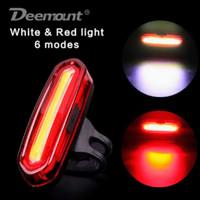 Lampu sepeda belakang atau depan LED 100 lumen 6 mode