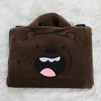 Tas Laptop Grizzly Velboa Bulu Tipis 10 - 14 Inch Softcase Notebook