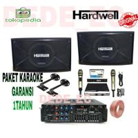 Paket Speaker Karaoke/Speaker Pasif Hardwell 10inch/Garansi