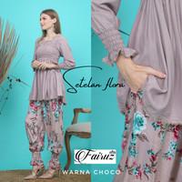 setelan arab india dubai turki fairuz set flora pajamas busui smok