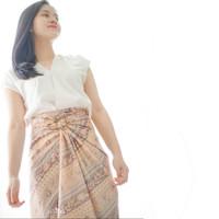 Rok lilit batik instant floral