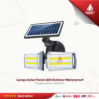 Lampu Solar Panel Sensor Gerak PIR Outdoor Waterproof 80 COB LED