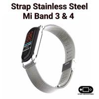 Mijobs Watchband Strap Xiaomi Mi Band 3 Dan 4 Stainless