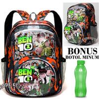 Tas sekolah anak laki laki ben 10 sd Bonus Botol - Tas ransel sekolah