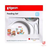 Pigeon Feeding Set Mini Baby BPA Free | Peralatan Makan Bayi