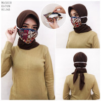 Masker Batik Katun Hijab Headloop