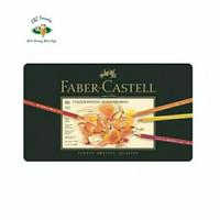 Faber-Castell 60 Colour Pencils Polychromos Tin Box. Pensil Warna