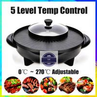 Panci Elektrik FLECO 602 - Electric BBQ Grill Pan + Hot Pot Steamboat