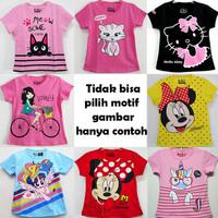 Kaos Anak Perempuan Motif Random Tidak bisa pilih Motif 1-10 Tahun - 1T