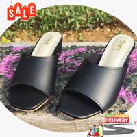 High Heels Mahardika Heel By Trompa Fashionable - Hitam, 36