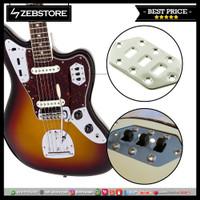Control Slide Switch Plate Gitar Fender Jaguar Chrome