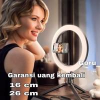 Ring Light LED Tripod Lampu vlog foto video ringlight kamera 16cm 26cm