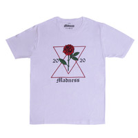 "KAOS MADNESS - ""FLOWER FOR NOW"" - WHITE T-SHIRT"