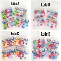 Kaos Kaki Bayi Perempuan Boneka 3D Isi 3pcs