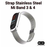 Tali Strap Xiaomi Mi Band 3 4 Stainless Steel
