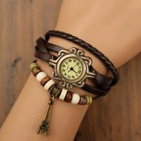 jam tangan wanita lilit kulit gelang paris murah