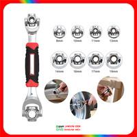 Universal Tiger Wrench 48 in 1 - Kunci Pas/ Inggris/ Ring Multifungsi