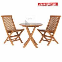 kursi lipat taman / teras kursi makan kayu jati jepara