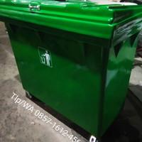 TEMPAT SAMPAH / TONG SAMPAH BESAR FIBER Kapasitas 660 liter ,varian
