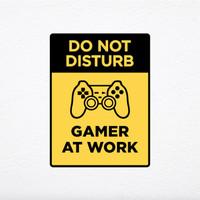 Gamer at Work | Sign Dekorasi Kamar Gamer Hiasan Dinding Game - 20 x 25 cm