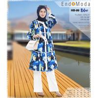 TUNIK MUSLIMAH ENDOMODA HB 86 BLUE