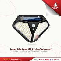 Lampu Solar Panel Sensor Gerak PIR Outdoor Waterproof 102 LED