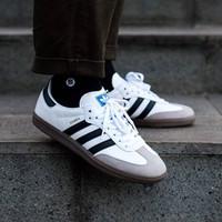 Sepatu Sneakers Pria Adidas Samba OG White Black Original 100% BNIB