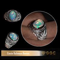 Batu Cincin Natural Opal Kalimaya Jarong Top Multicolor