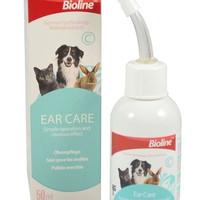BIOLINE EAR CARE Cairan pembersih kuping hewan anjing kucing kelinci