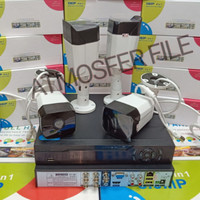 PAKET CCTV 4CH FULL HD 3MP FULL OUTDOOT KOMPLIT TINGGAL PASANG