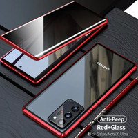 Magnetic Magnet Double Glass back Case Cover Samsung Note 20 Ultra