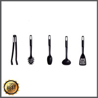 Unik IKEA SPECIELL 5 Set Peralatan Dapur Hitam Berkualitas