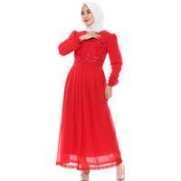 FAME Fashion Gamis 9910504 Merah
