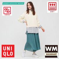 UNIQLO Women Jaket Sweat Wanita Dry Ultra Stretch Hoodie Off White