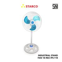 Starco Industrial Stand Fan IPS-118 - Putih