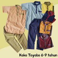 Baju Muslim Anak Laki Koko Turki Katun Toyobo 6-9 Tahun